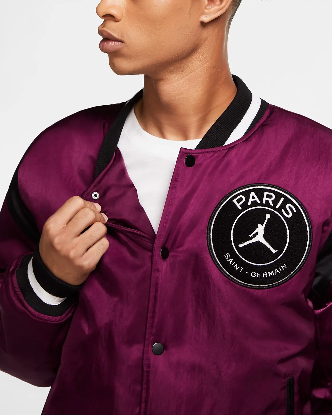paris saint germain men s varsity jacket