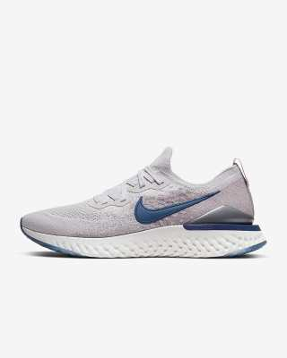 Nike Epic React Flyknit 2 'Vast Grey / Coastal Blue' .97 Free Shipping