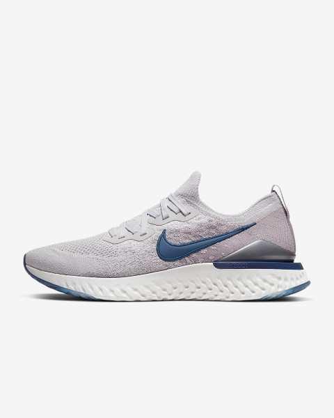 Nike Epic React Flyknit 2 'Vast Grey / Coastal Blue' .97 Free Shipping
