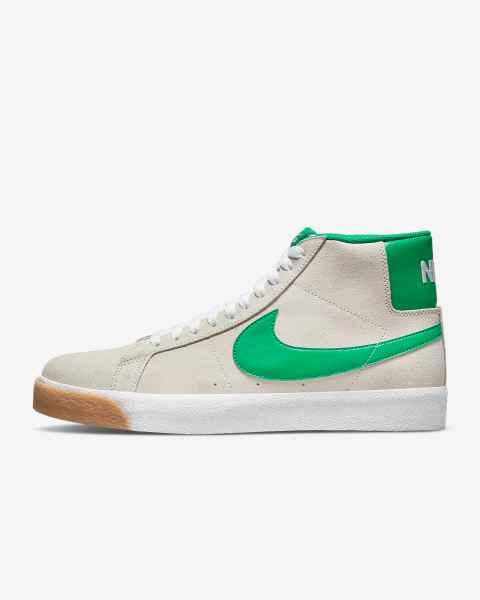 Nike SB Zoom Blazer Mid 'Coconut Milk / Lucky Green' .97 Free Shipping
