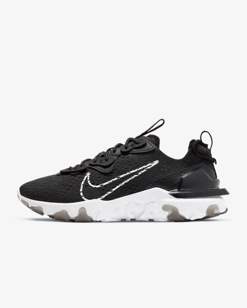 Nike React Vision 'Black / White' .97 Free Shipping