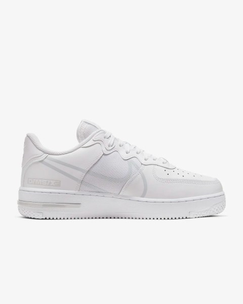 Nike Air Force 1 React 'Pure Platinum' .97 Free Shipping