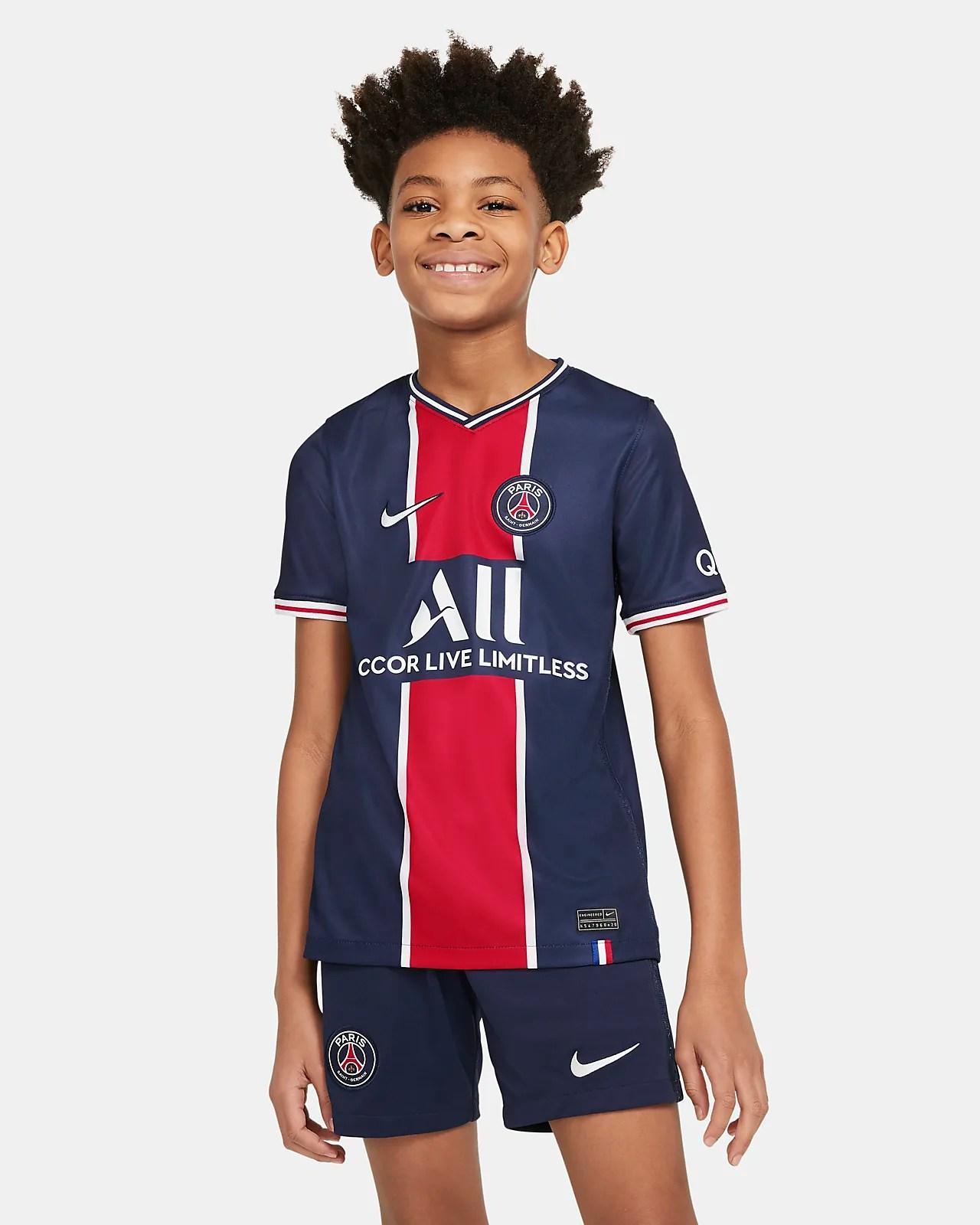 paris saint germain 2020 2021 stadium home fussballtrikot fur altere kinder