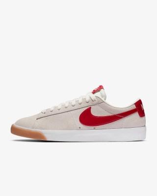 Nike SB Blazer Low GT 'Sail / Cardinal Red' .97 Free Shipping