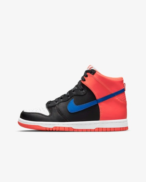 GS Nike Dunk High 'Black / Bright Crimson'