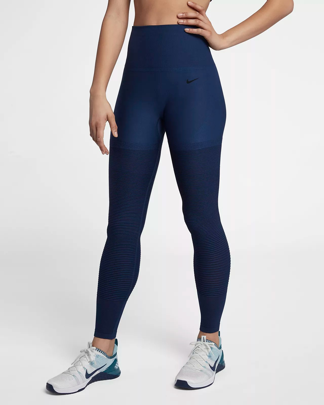 Nike Seamless 女款高腰訓練緊身褲。Nike TW
