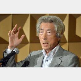 「反原発」を猛アピールした小泉純一郎元首相(C)日刊ゲンダイ