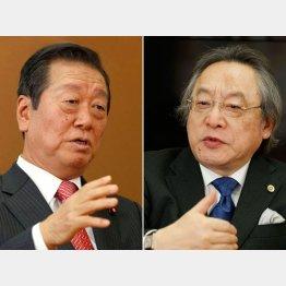 小沢一郎氏(左)と小林節氏(C)日刊ゲンダイ