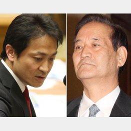 質問する民進党の玉木議員(左)と西川TPP特別委員長/(C)日刊ゲンダイ