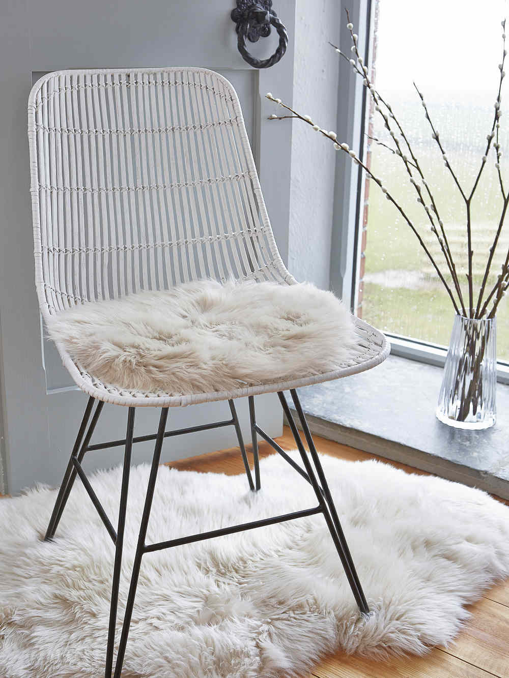 Sheepskin Chair Covers Luxurious Sheepskin Seat Cover Champagne
