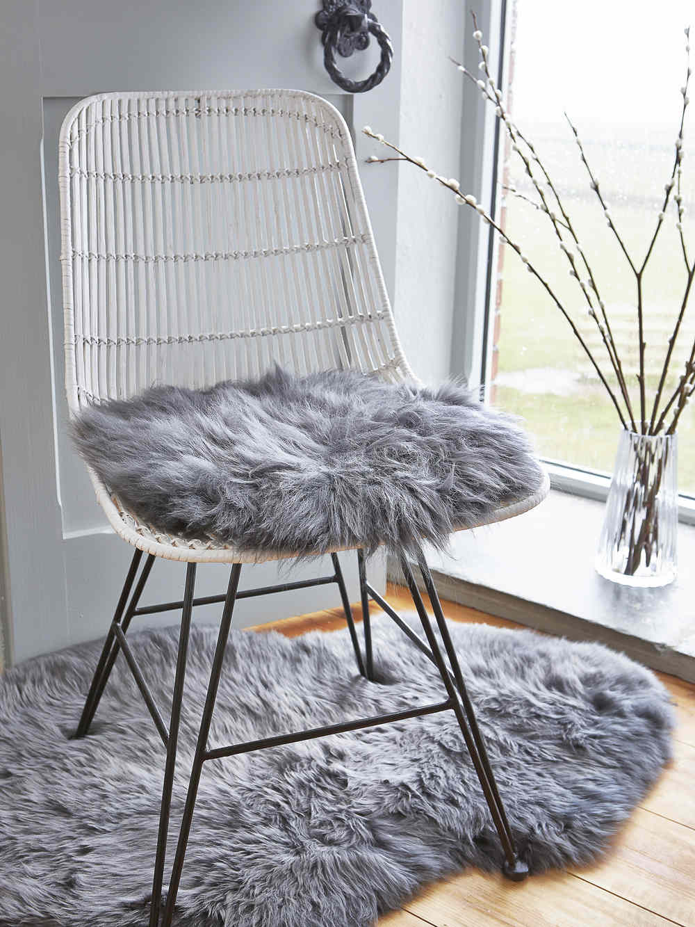 Sheepskin Chair Covers Luxurious Sheepskin Seat Cover Grey