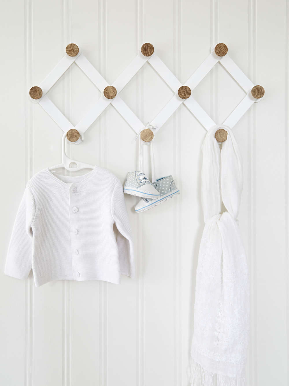 Expandable Wall Hook Rack  Scandi Wall Hooks  Coat Rack