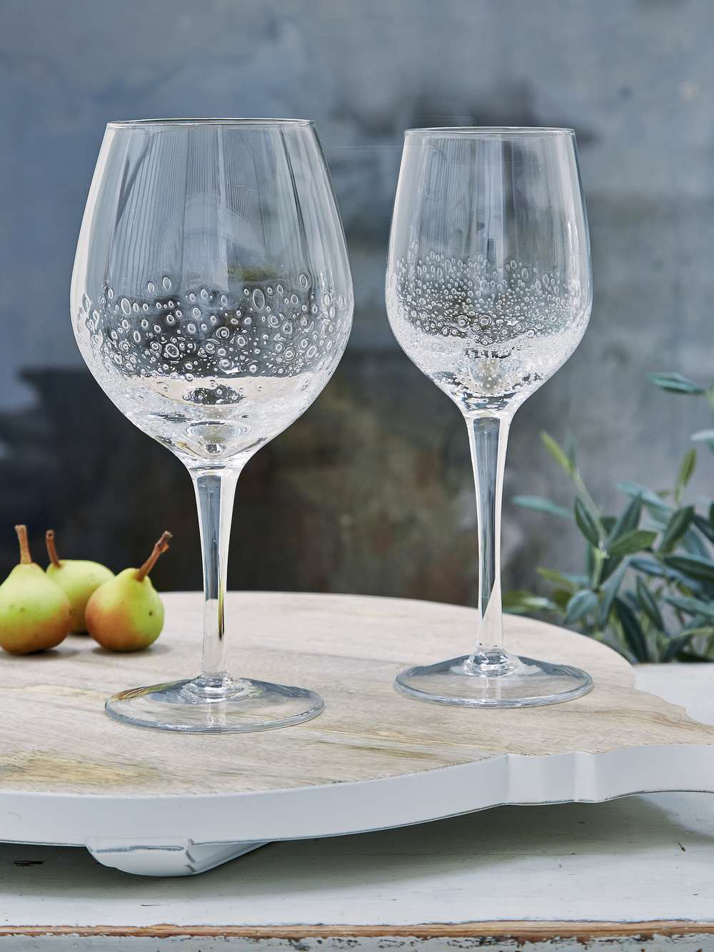 Bubble Wine Glasses  White  White Wine Bubble Glasses