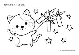 無料の塗り絵「七夕」の検索結果 - ぬりえやさんドットコム