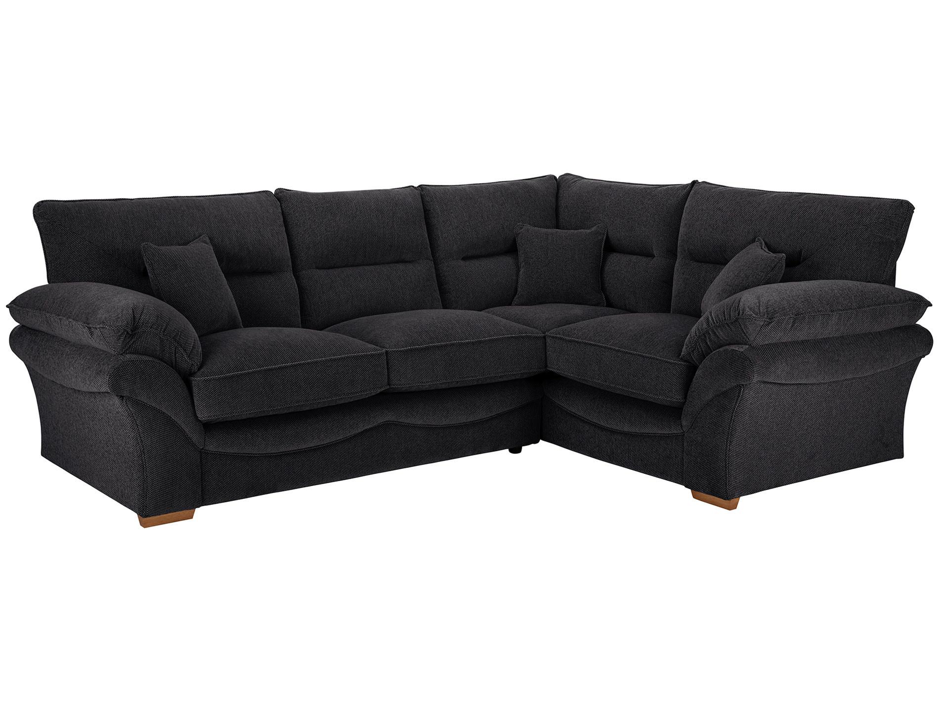 black fabric corner sofa bed lipat chloe right hand in logan
