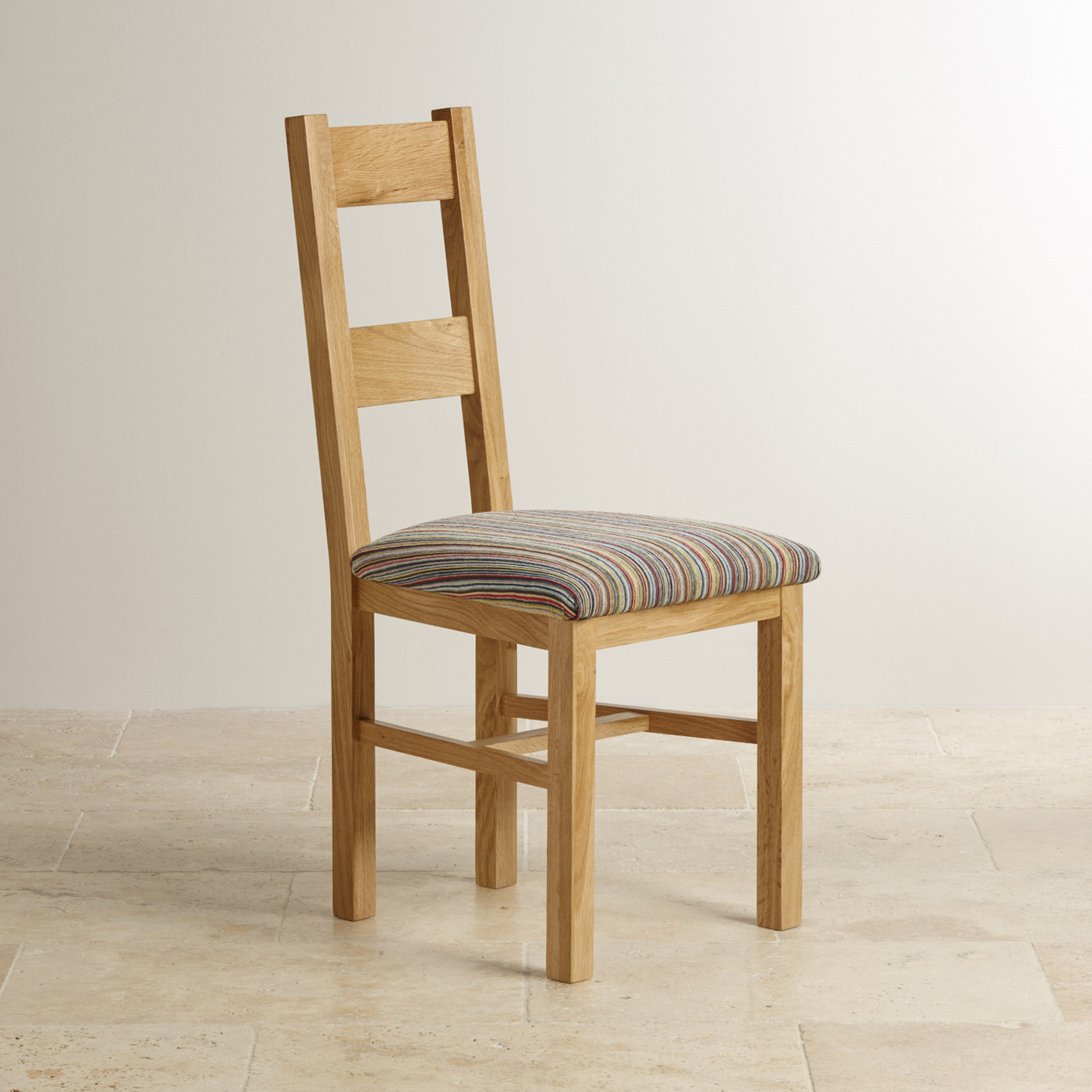 oak farmhouse chairs chair cover rentals long island ny natural solid and multi striped patterned