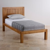 Quercus Rustic Solid Oak Single Bed | Bedroom Furniture