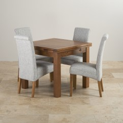 Grey Fabric Oak Dining Chairs Desk Chair Staples Rustic Solid 3ft Table With 4
