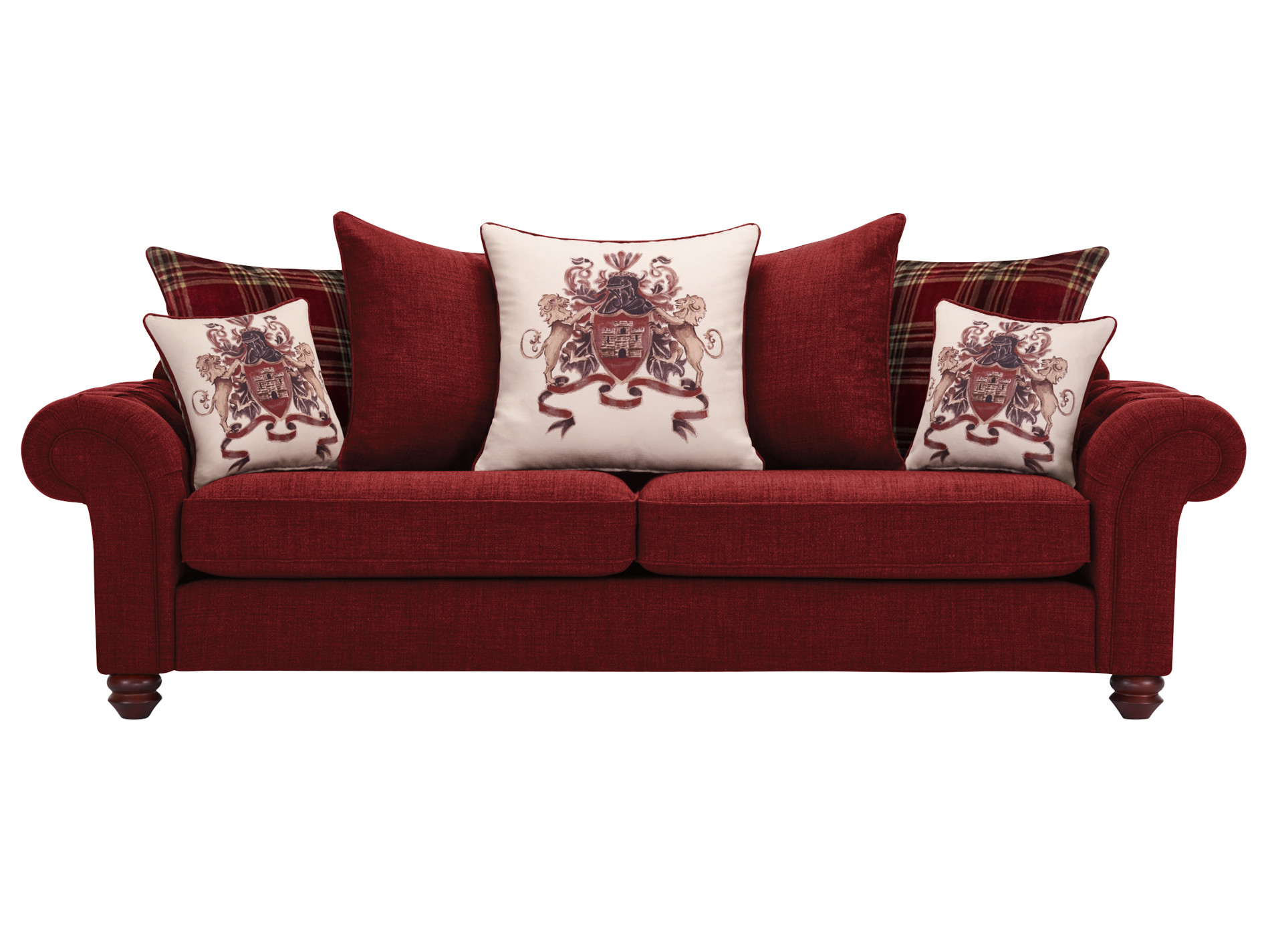 big pillows for sofas sectional sofa vancouver sandringham extra large pillow back in red with