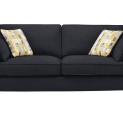 Sophia Sofa Range Bed Black Leather Large In Cuba Charcoal
