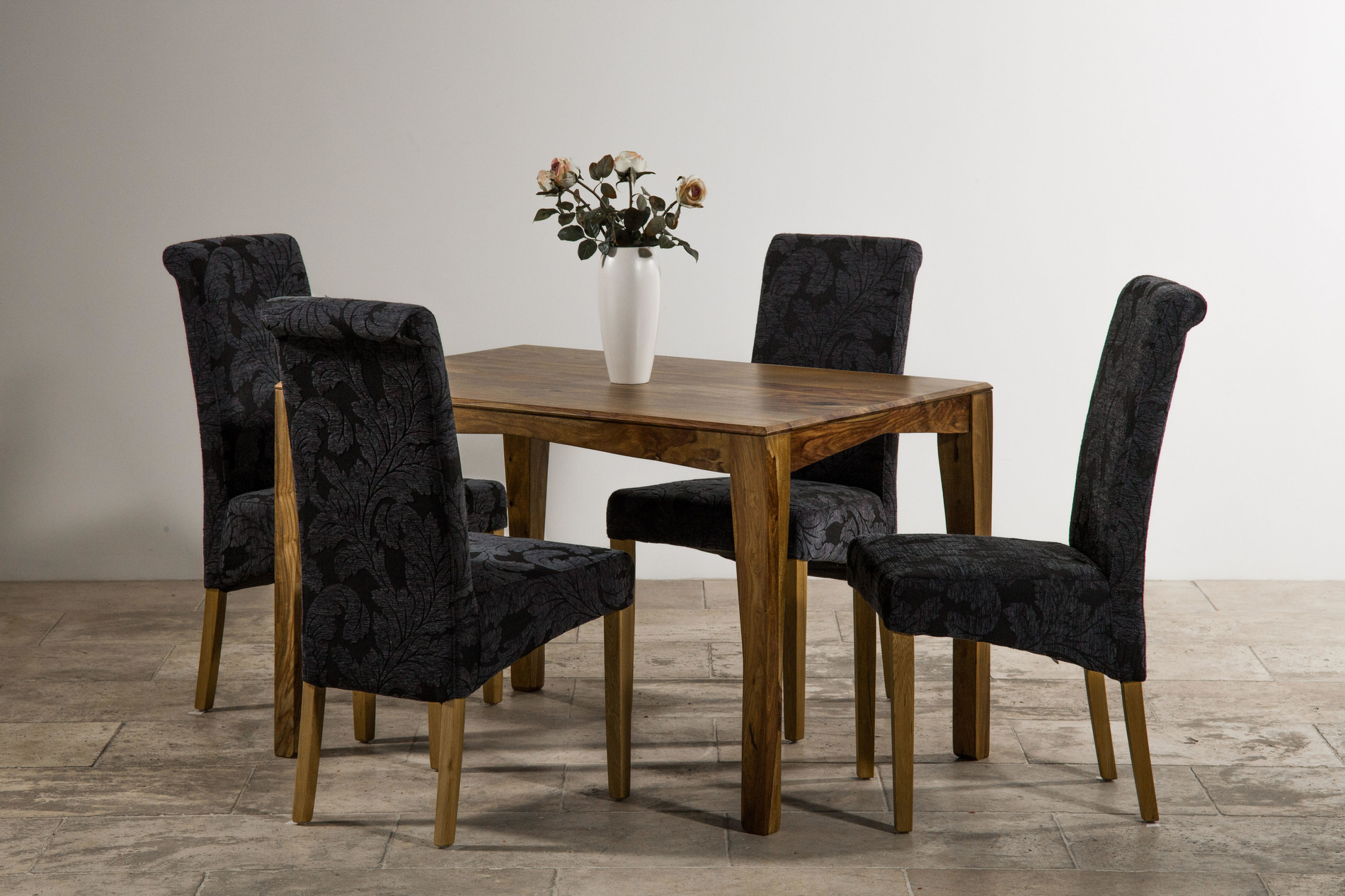 navy blue dining chair mitchell gold covers tali solid rosewood 4ft table 43 4 scroll back