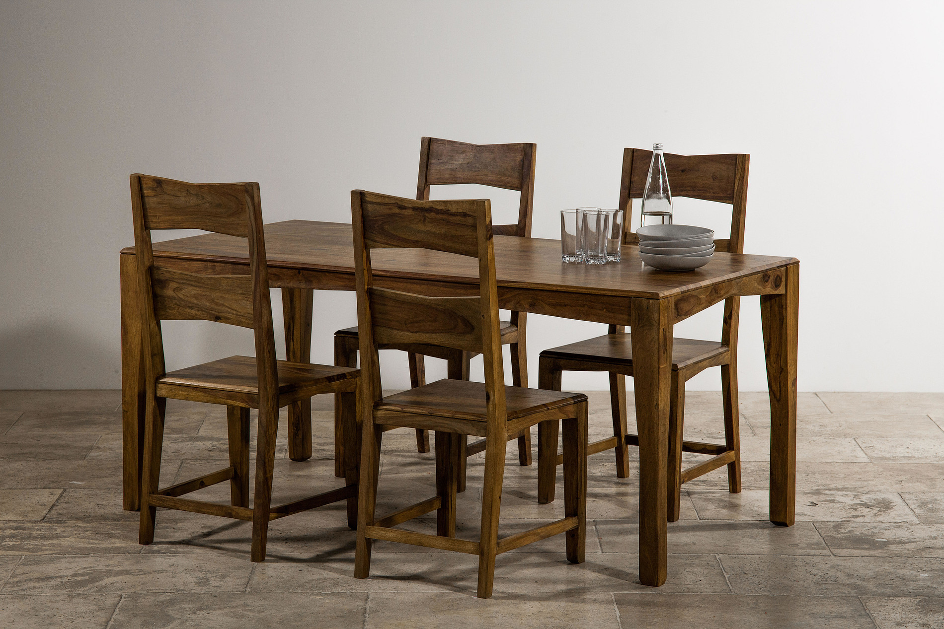 2 x 4 dining chairs ergonomic chair kuala lumpur tali solid rosewood 5ft 6 2ft 9 table 43