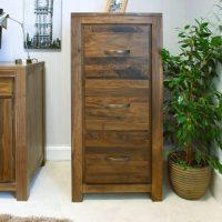 Kingston Walnut Three Drawer Filing Cabinet | Oak World