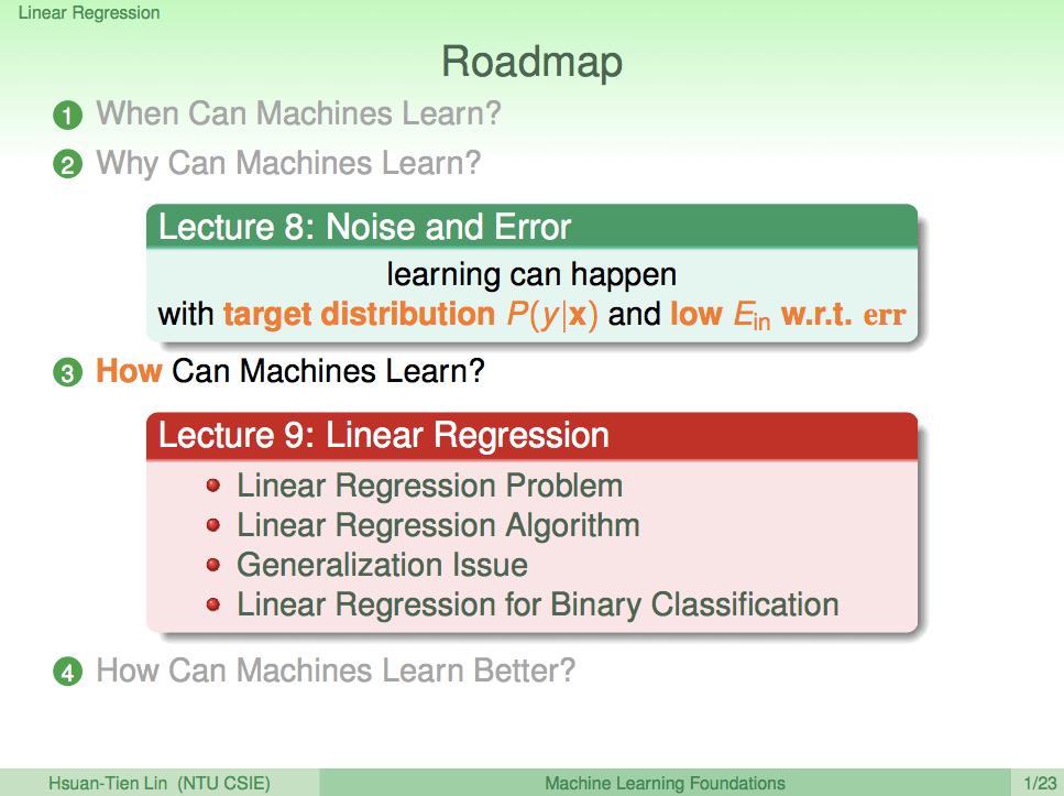 林軒田教授機器學習基石 Machine Learning Foundations 第 9 講學習筆記