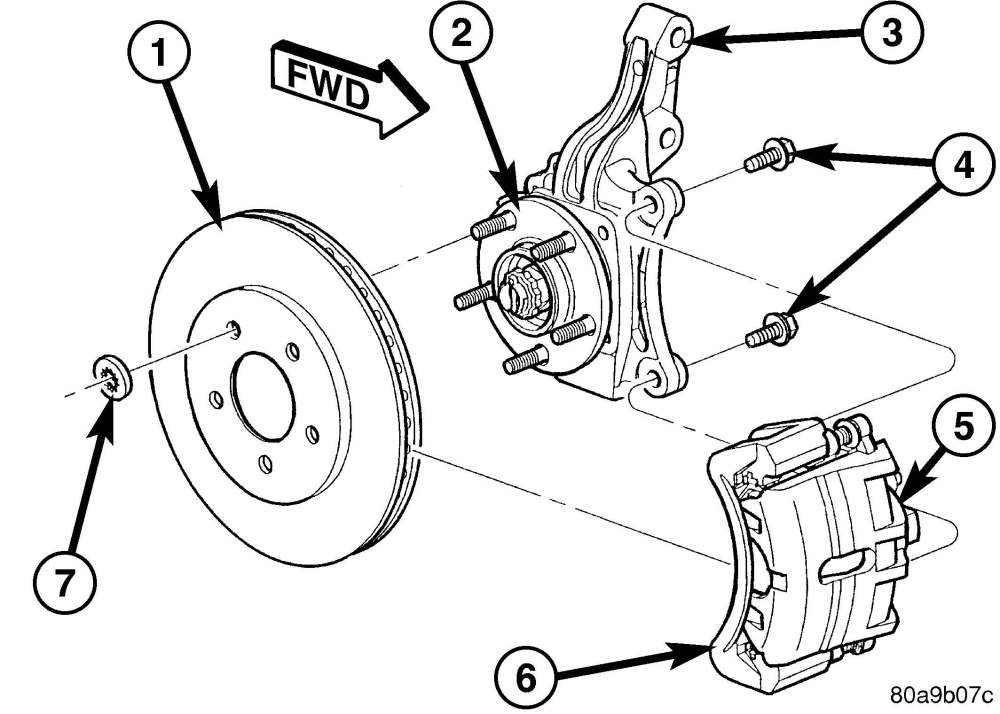medium resolution of 1 front brake mounting