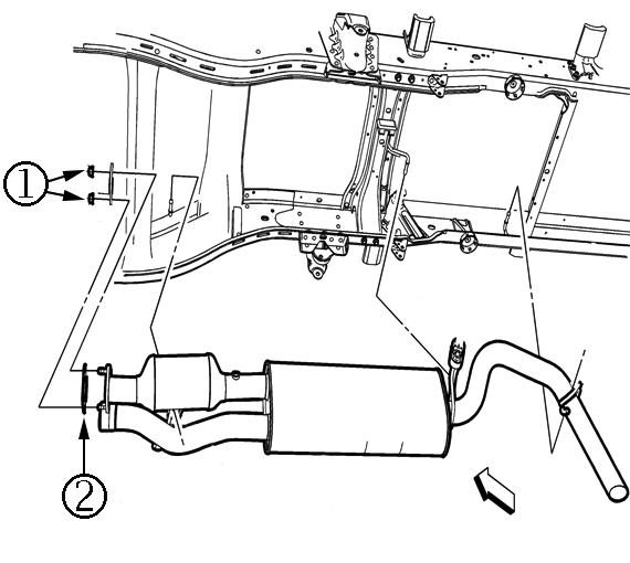 15821 – Catalytic Converter Clamp Exhaust Leak