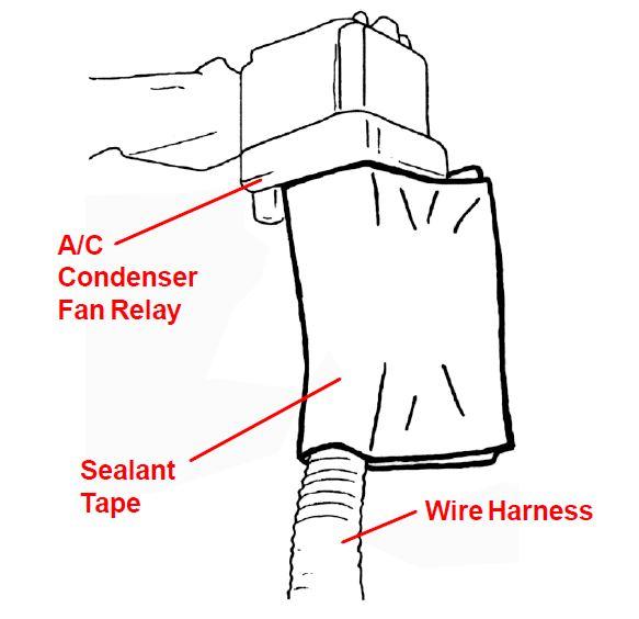 A/C Condenser Fan Relay Corrosion