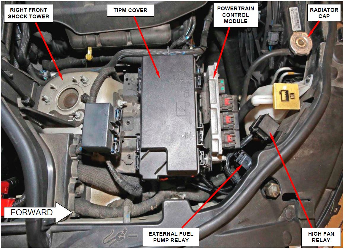 hight resolution of inspect for external fuel pump relay