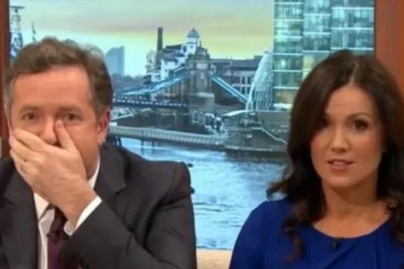 Piers Morgan swears on Good Morning America
