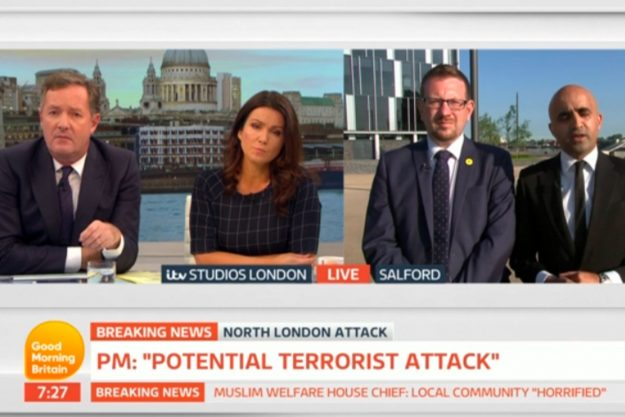 Good Morning Britain: Piers Morgan shouted at and called him out over his comments aimed at him