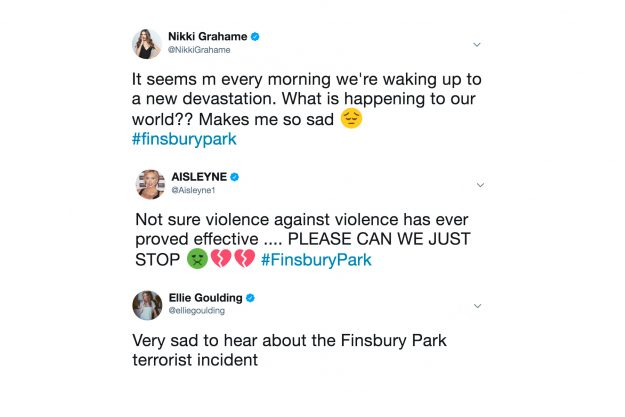 Finsbury Park Terror Attack: Stars paid tribute during the horror attack