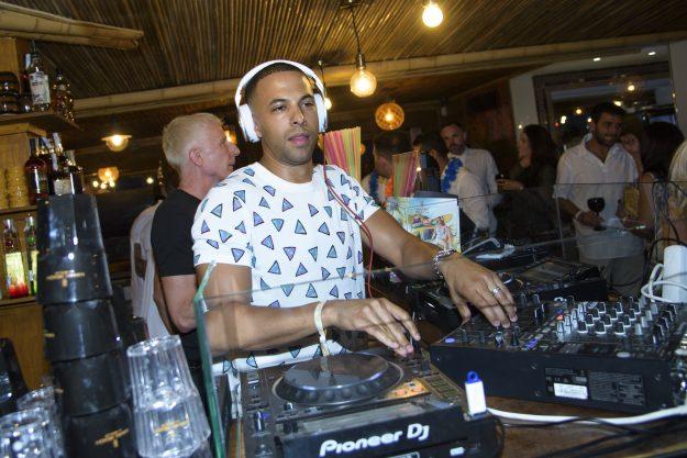 Marvin Humes DJing at Mahiki Beach by Sala
