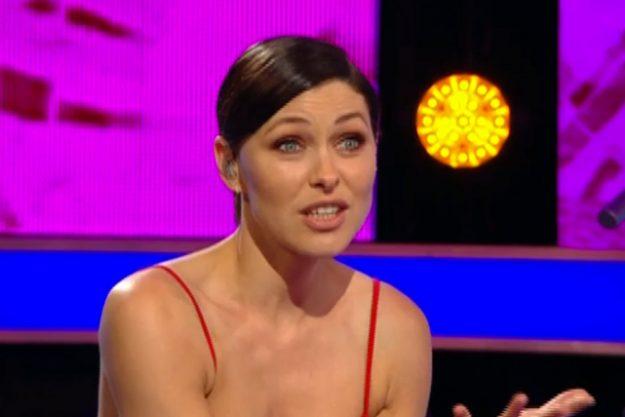 Emma Willis on Big Brother eviction night
