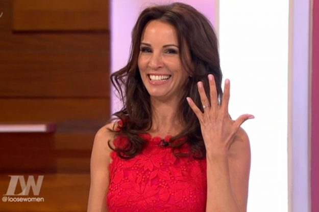 Loose Women: Andrea McLean showed off her engagement ring after Nick Feeney proposed to her