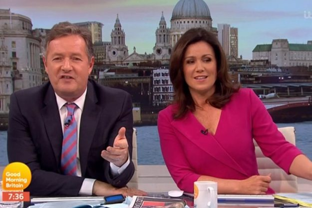 Good Morning Britain: Susanna Reid told off Piers Morgan after he was caught out live on air
