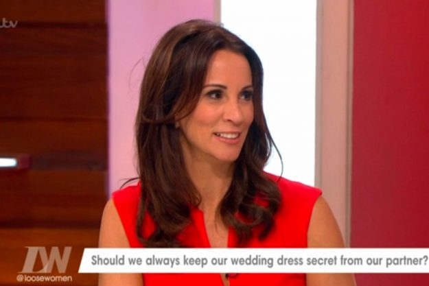 Loose Women: Andrea McLean made a SHOCK confession about her wedding dress
