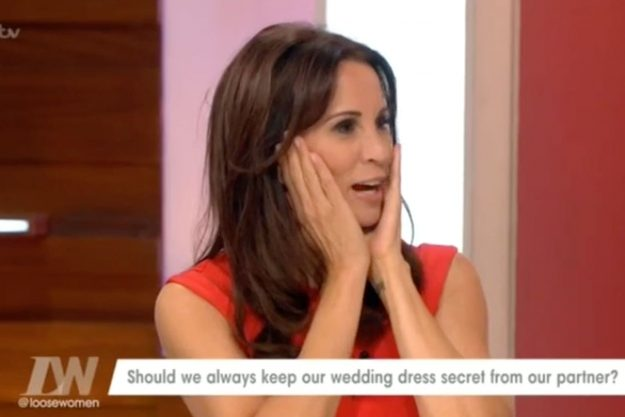 Loose Women: Andrea McLean appeared to have second thoughts about breaking the wedding tradition