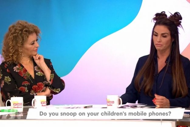 Loose Women: Katie told Nadia Sawalha that she has all the passwords to the kids' mobiles