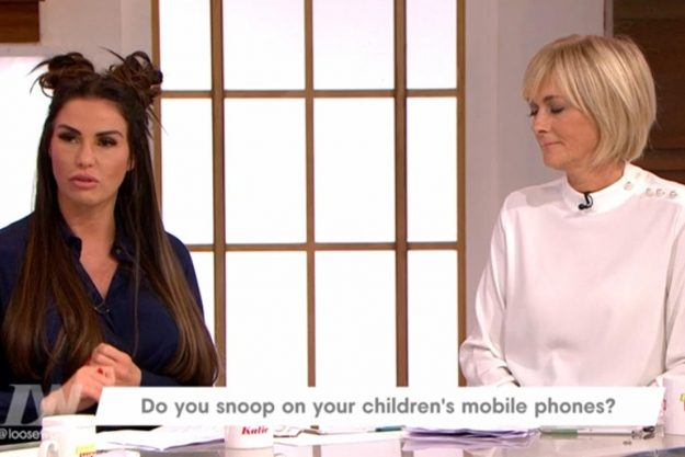 Loose Women: Katie insisted the kids have learnt form her intense snooping