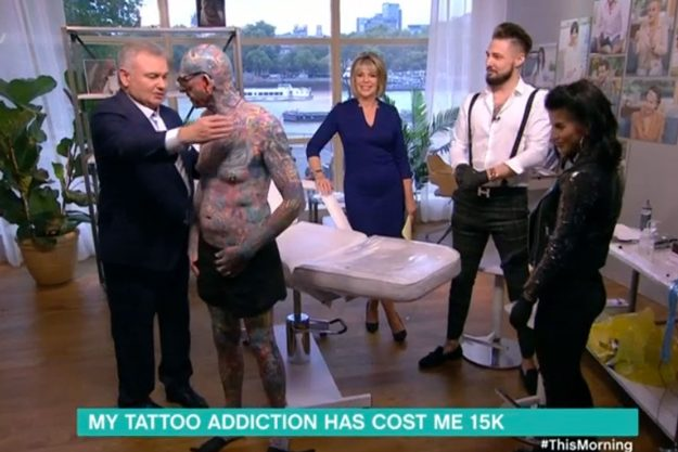 This Morning: Paul Allen has over 800 tattoos including one on his manhood