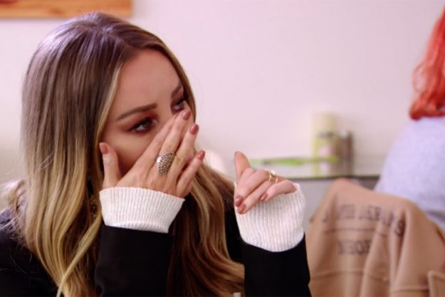 Lauren Pope broke down in tears during the TOWIE finale