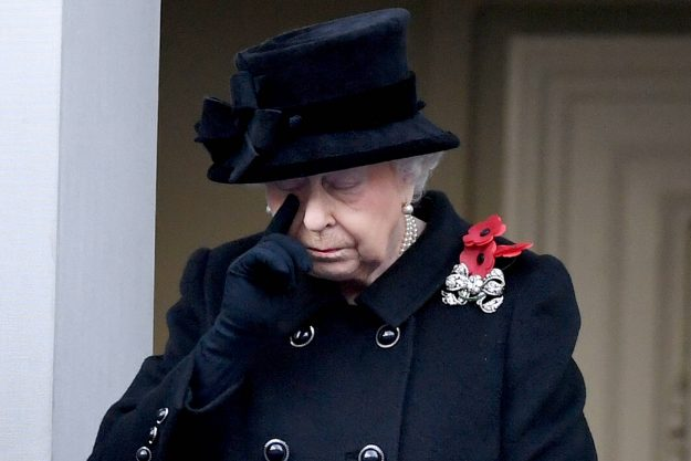 The Queen pays her respects for Remembrance Sunday