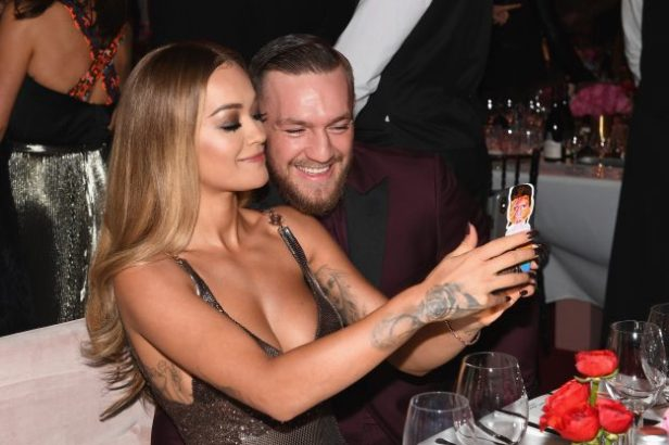 The pair took selfies at the event