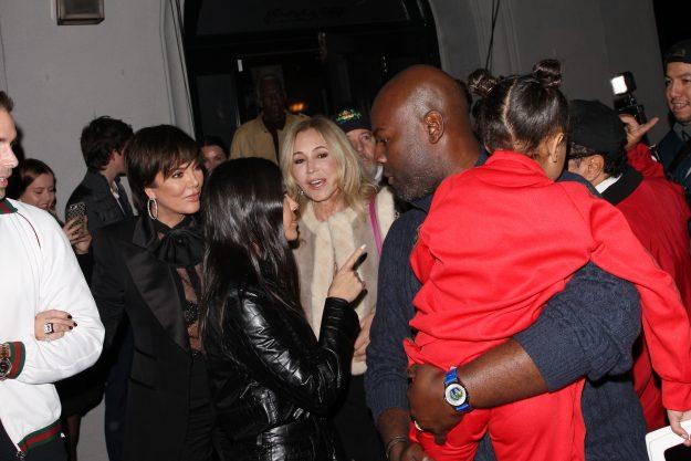 Kourtney Kardashian has a family dinner at the Craig restaurant in West Hollywood. Kourtney was accompanied by Kris Jenner, Corey Gamble and Kim Kardashian's daughter, North West. Even her best friend Larsa Younan was inside the restaurant. In the picture: Kourtney Kardashian Ref: SPL5054862 110119 NON EXCLUSIVE Photo of: SplashNews.com Splash News and Pictures Los Angeles: 310-821-2666 New York: 212-619-2666 London: 0207 644 7656 Milan: 02 4399 8577 photodesk @ splashnews .com World Rights,