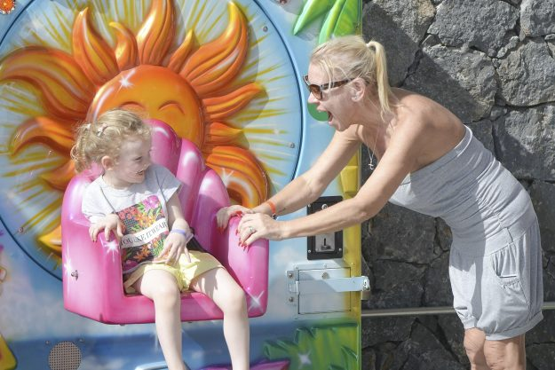 Tina Malone Spotted On Holiday With Two Year Old Daughter