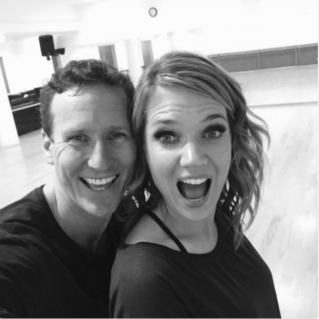 Strictly Come Dancing: Brendan Cole and Charlotte Hawkins rehearse together ahead of the weekend